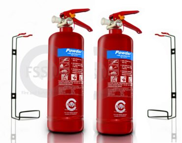 2 X 2kg Powder Fire Extinguisher EN3 small