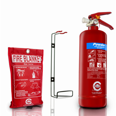 fss uk plus 2kg abc powder ce marked fire extinguisher with ce marked fire blanket