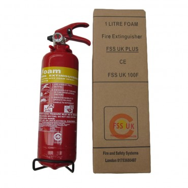 fss uk plus 1 litre foam fire extinguisher ce marked