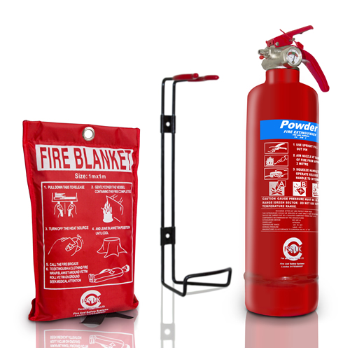 fss uk plus 1 kg abc dry powder fire extinguisher with fire blanket ce marked
