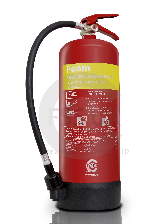 6 litre foam afff fire extinguisher british standard kitemark
