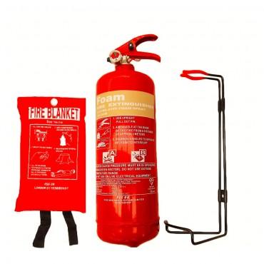 new-2-litre-foam-afff-fire-extinguisher-fire-blanket-b-s-kitemark