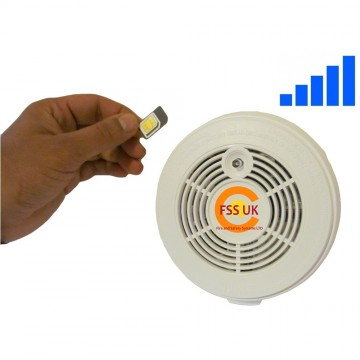 sms phone fire alarm smoke detector with sim card callstexts up to 5 numbers