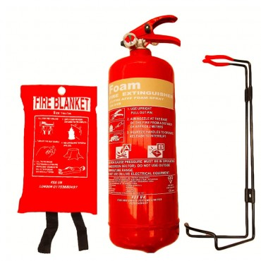 premium fss uk 2 litre foam fire extinguisher with fire blanket british standard kitemarked extinguisher and ce marked fire blanket