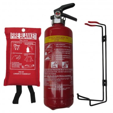 premium fss uk bs kitemark wet chemical fire extinguisher 2 litre 1m x 1m ce fire blanket