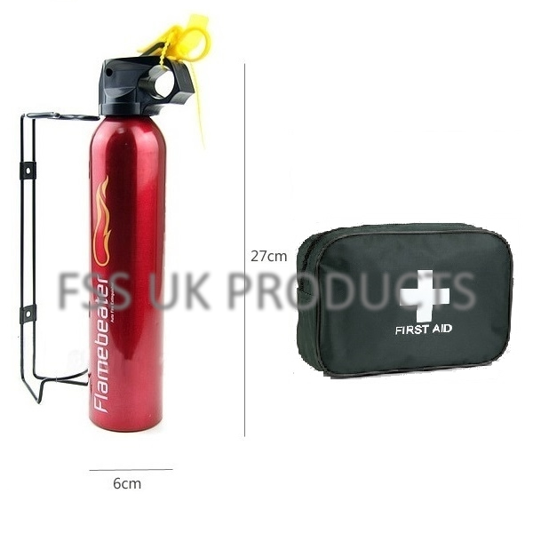 premium fss uk 600g fire extinguisher with 5 year warranty 1st aid kit