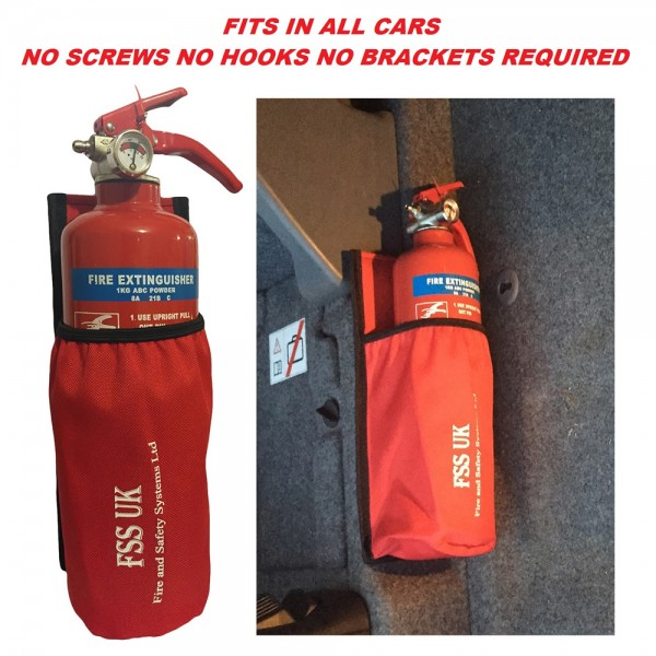 easy install car van taxi 1 kg abc fire extinguisher with universal car holder british standard kitemark