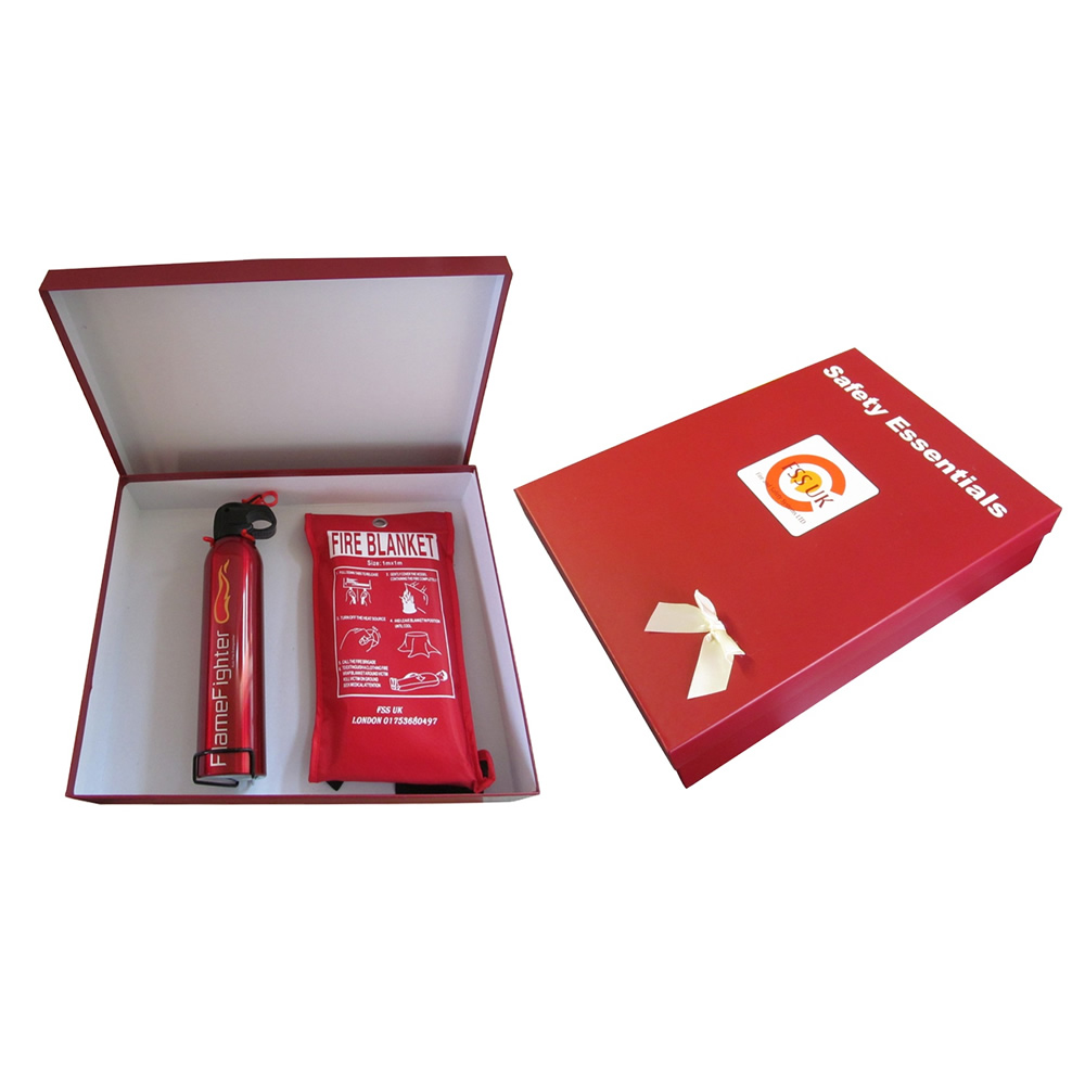 fire safety essentials box 600 g powder fire extinguisher fire blanket ce marked
