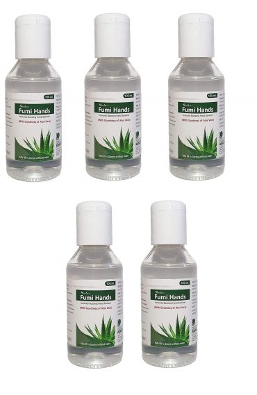 PACK OF 5 ALOE VERA 100ml 70% ALCOHOL HAND SA...